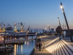 New Port Promenade in Hamburg