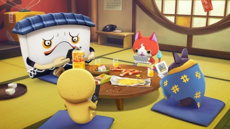 Yo Kai at the Table - Table, Game, Yokai, Food
