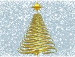 Golden Swirly Christmas Tree