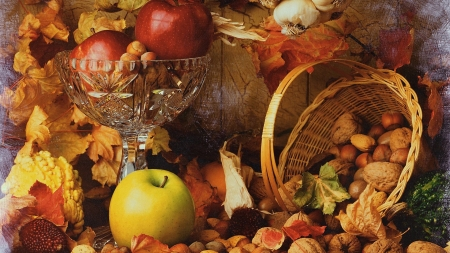 Apples & Nuts - Fall, Apples, Food, Nuts