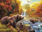 Bears at the Stream