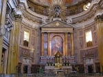 Church Altar in Rome, Italy