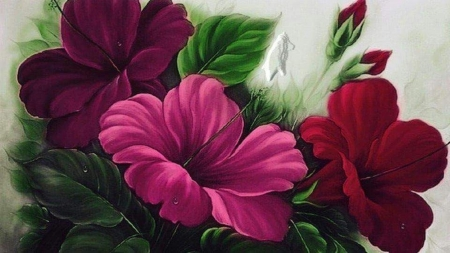 flowers - beauty, flowers, art, paintings
