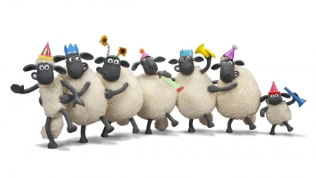 Shaun the Sheep movie 2 - shaun the sheep, fantasy, movie, oaie, party, funny, hat
