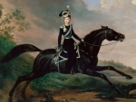 Equestrian portrait of Grand Prince Alexander Nikolayevich
