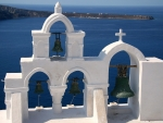 Bells in Santorini, Greece