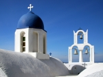 Church Bells in Santorini, Greece