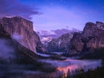 Yosemite under Twilight Stars