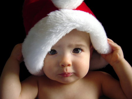 Baby Santa Claus - christmas, fashion, photography, face, other, romantic, red, eyes, cute, beautiful eyes, xmas, x-mas, sensual, santa claus, adorable, nice, merry christmas, santa, cool, lovely, dreamy, holidays, picture, baby