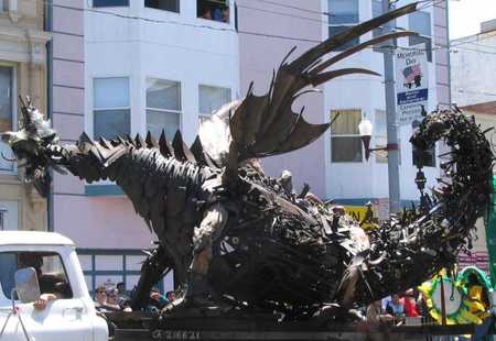 There be Dragons on this here Day! - beasties, ghidra, dragons, sculpture