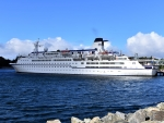 Cruise Ship In Stornoway Harbour - Scotland