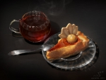 Pumpkin pie and tea