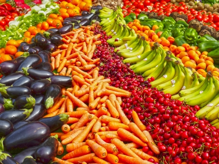 Veg Rainbow - rainbow, carrot, vegetables, food