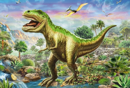 Prehistoric  Gaint - largest, piant, green, leather, creatures, dinosaur, like