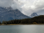 Upper Kananaskis Lake cloudy day
