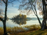 Lake Sventes in Latvia