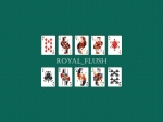 Minimalistic Royal Flush Poker Wallpaper