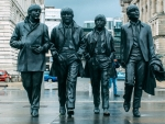 Statue of the Beatles in Liverpool, England