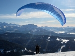 Paraglider at Start in French Alps
