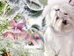 Fluffy Puppy Christmas