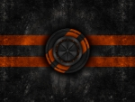 Black corp logo orange