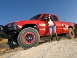 Red Truck Racer & Cowgirl