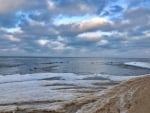 Winter Beach in Mazirbe, Latvia