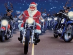 Santa Riding His Harley
