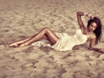 Model in The Sand