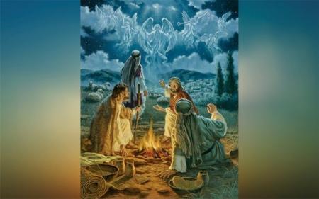 Christmas Shepherds.Shepherds At Christmas Eve Other People Background