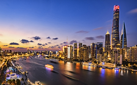 Shanghai Modern Architecture Background Wallpapers On
