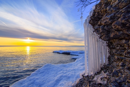 Winter Beach Beaches Nature Background Wallpapers On