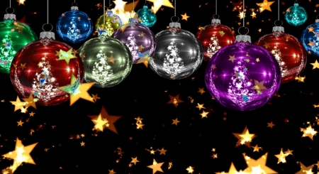 Christmas balls - balls, christmas, winter, colorful, holiday, decoration