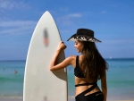 Cowgirl Surfer. .