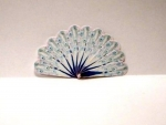 Miniature Peacock Hand Fan