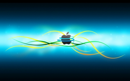 Bluetone apple - beautiful, sign, hitec, blue, colorful, art, iphone, lovely, design, phone, computer, magical