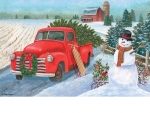 Old Ford Christmas Truck