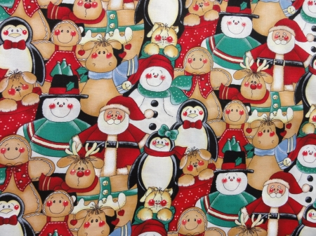 Christmas Characters - textures, christmas, characters, fabric