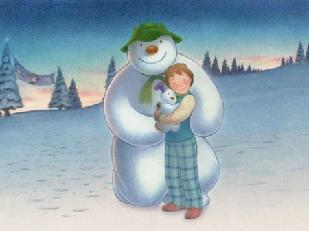 The Snowman - boy, Snow, snowman, film