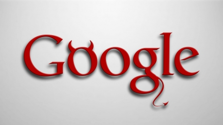 :) - demon, google, horns, red, funny, minimalism