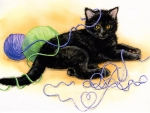 tangled-kitten-painting-wallpaper
