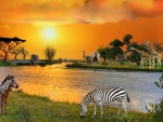 sunsets-river-african-animals-zebra-rivers-elephants-sunset-giraffes-nature-africa-hd-iphone-wallpaper.jpg