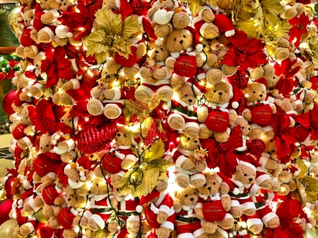 Christmas backgroung with teddy bears