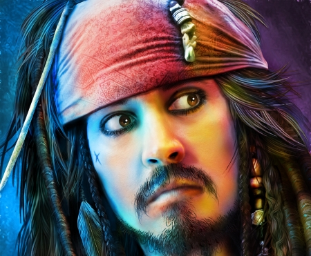 Captain Jack Sparrow Fantasy Abstract Background