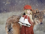 little girl and the wolf