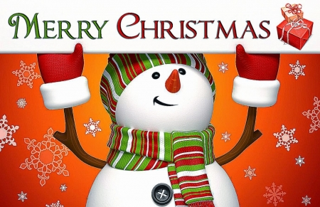 Snowman ChristmasGreeting - greeting, man, christmas, snow