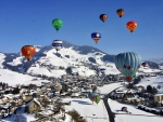Hot Air Balloons in Winter