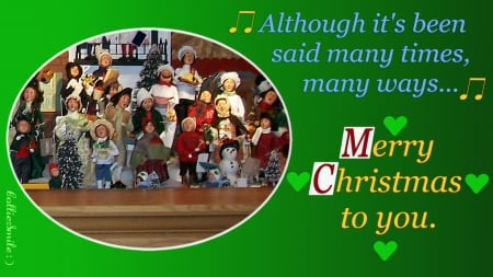 Yule-Tide Carolers for my DN Friends :D - Christmas, The Christmas Song, green, people, words, children, choir, trees, noe1