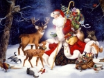 Santa And His Animal Friends