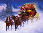 Stage Coach Santa Claus